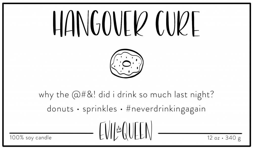 Evil Queen Hangover Cure - Candle DNR