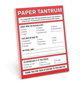 Knock Knock Paper Tantrum Nifty Note DNR