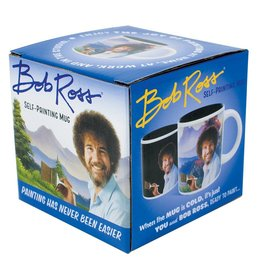 Unemployed Philosophers Guild Bob Ross Self Painting Heat Change Mug