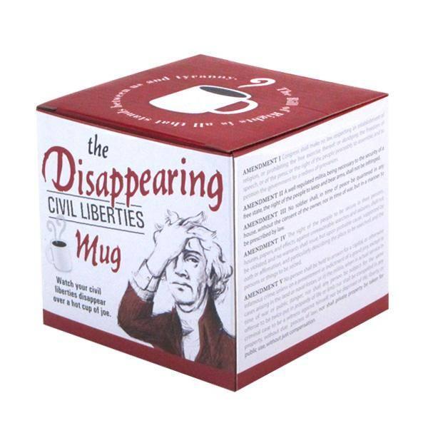 Unemployed Philosophers Guild Disappearing Civil Liberties Mug