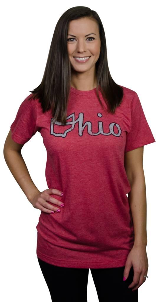 Red Ohio Script Unisex T-Shirt
