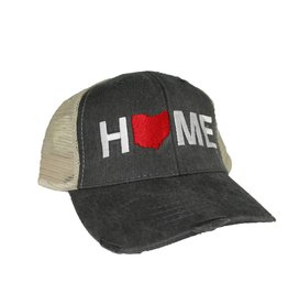Home Hat Tan/Charcoal Mesh
