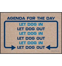 High Cotton* Agenda for the Day - Doormat !