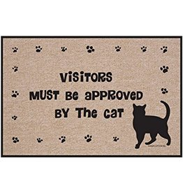 High Cotton* Visitors Must Be Approved - Doormat