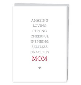 Design With Heart MOM Words - Card DNR