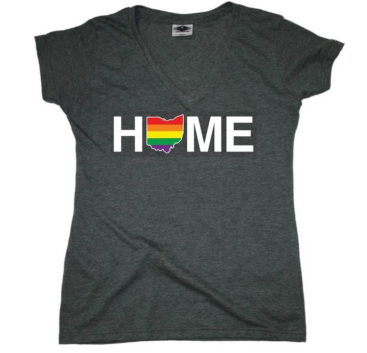 Rainbow Home V-Neck T-Shirt