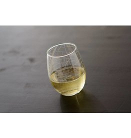 Hometown Maps Columbus - Stemless Wine Glass