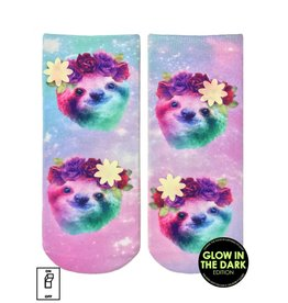 Living Royal Sloth Floral Glow Ankle Socks