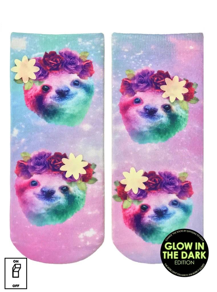 Living Royal Sloth Floral Glow Ankle Socks