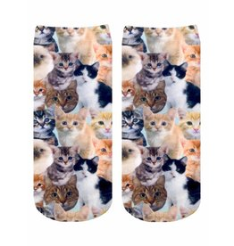 Living Royal Kitty All Over Ankle Socks