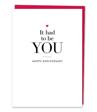 Design With Heart It Had to Be You  -  Anniversary Card