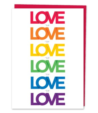 Design With Heart Love is Love is Love - Card Love