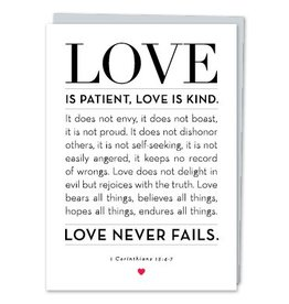 Design With Heart Love Is Patient Corinthians  - Card Love