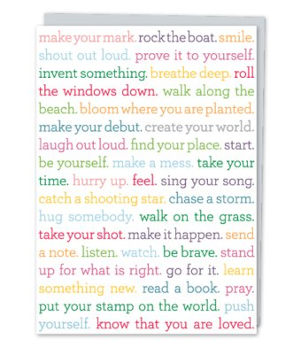 Design With Heart Create Your World  - Card Enouragement