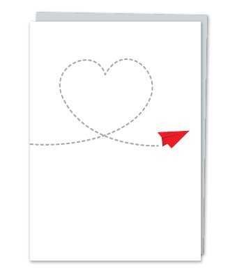 Design With Heart Paper Airplane  - Card Love