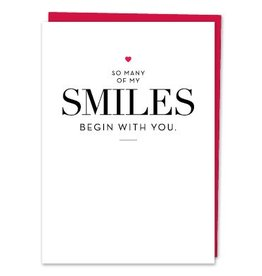 Design With Heart So Many of My Smiles  - Card Thinking of You