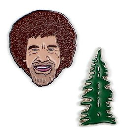 Unemployed Philosophers Guild Bob Ross & Tree Pins