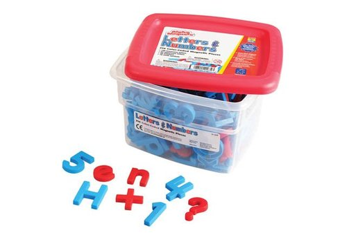 Educational Insights AlphaMagnets & MathMagnets - Color-Coded (214 pieces)