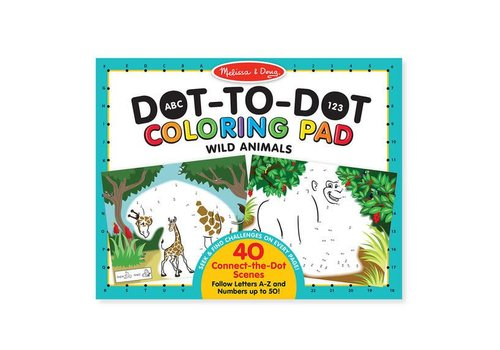 Melissa & Doug Wild Animals ABC 123 Dot-to-Dot Coloring Pad