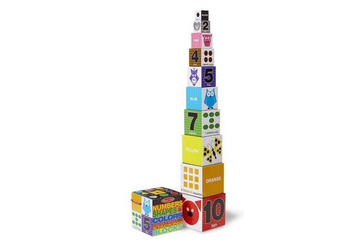 Melissa & Doug Numbers, Shapes and Colors Nesting and Stacking Blocks