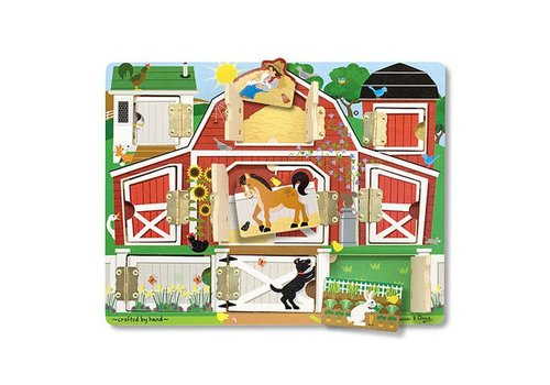 Melissa & Doug Farm Hide & Seek Peg Puzzle