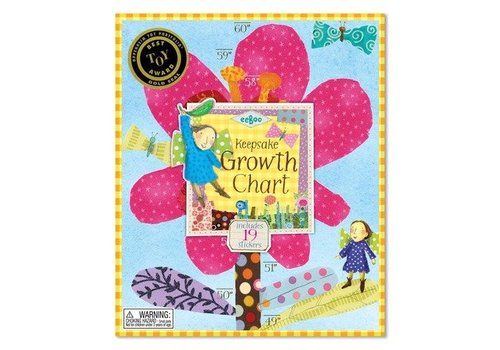 Eeboo Hot Pink Flower Growth Chart *