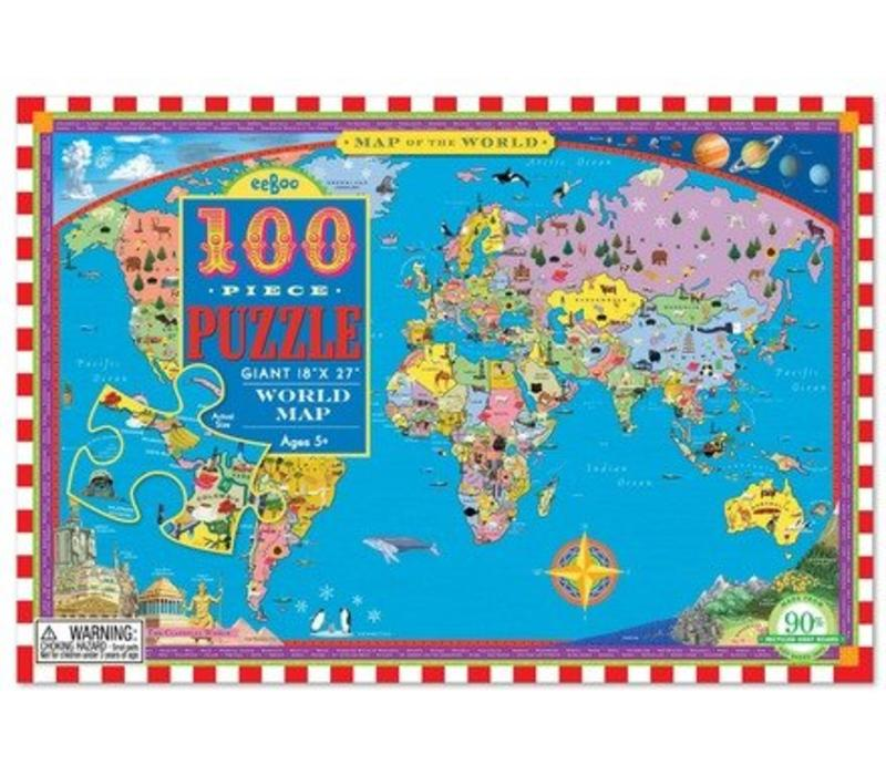 World Map Store.World Map 100 Pc Puzzle E Learning Tree Educational Store Inc