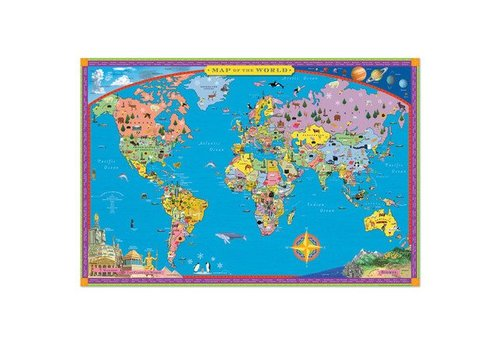 Eeboo Decorative Map of the World