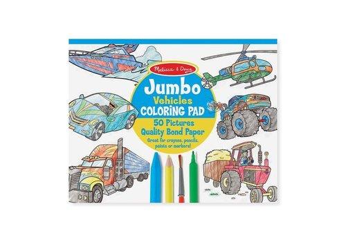 Melissa & Doug Jumbo Colouring Pad Vehicles
