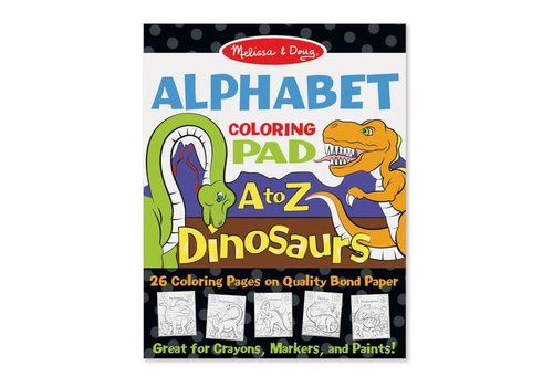 Melissa & Doug A-Z English Alphabet Dinosaur Colouring Pad