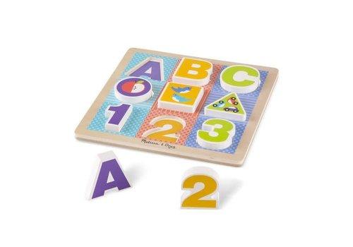 Melissa & Doug ABC-123 Chunky Wooden Puzzle