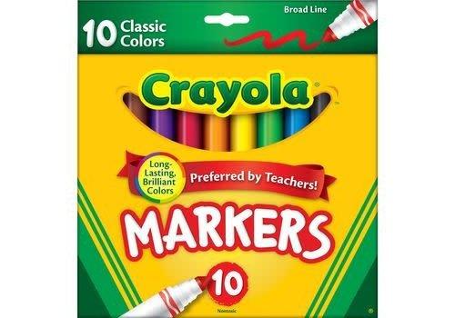 Crayola Crayola 10 Pack Broad Line Markers