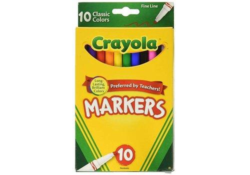 Crayola Crayola 10 Pack Fine Line Markers *