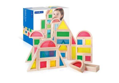 Guidecraft Rainbow Blocks - 30 pieces