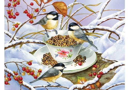 COBBLE HILL Chickadee Tea - 275 pc jigsaw puzzle