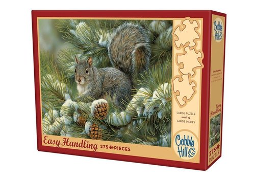 COBBLE HILL Gray Squirrel - 275 pc jigsaw puzzle