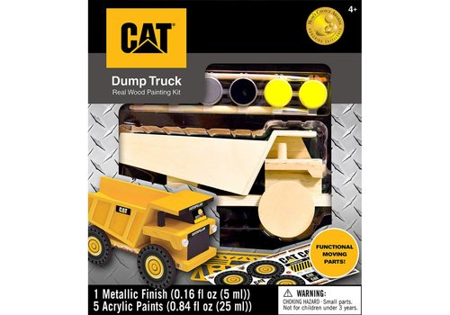 orb CAT Dump Truck Realwood Painting Kit