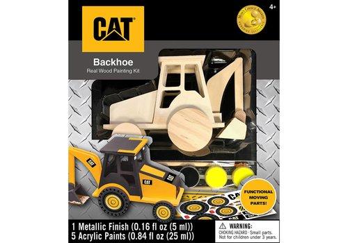 orb Cat Backhoe Realwood Painting Kit