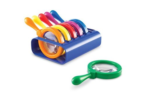 Learning Resources Primary Science Jumbo Magnifiers with Stand *