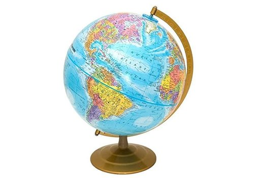 "REPLOGLE GLOBES Explorer World Globe 12""/30CM, Metal Stand *"