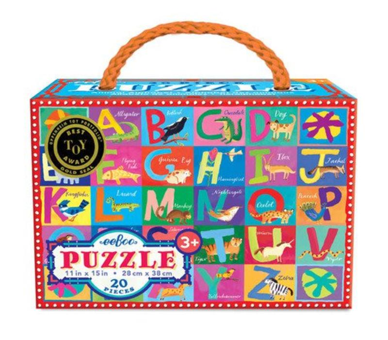Animal Alphabet Puzzle - 20 pieces