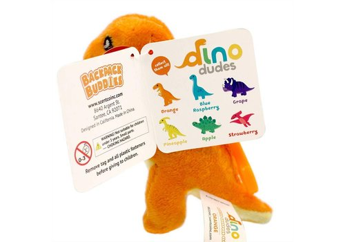 scentco Dino Dudes Scented Backpack Clip - orange