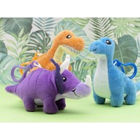 Dino Dudes Scented Backpack Clip - blue