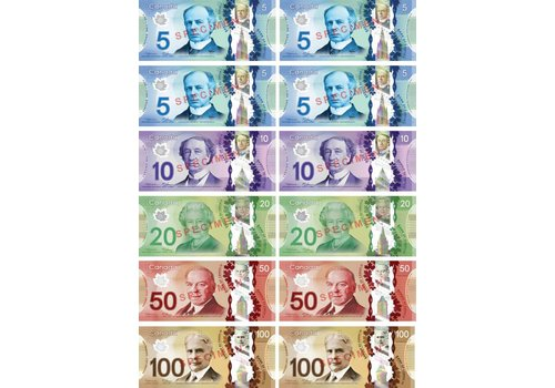 ASHLEY PRODUCTIONS Canadian Dollars Magnetic Currency Set