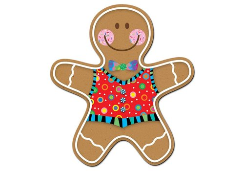 "Creative Teaching Press GINGERBREAD MAN, 6"" DESIGNER CUT-OUTS"