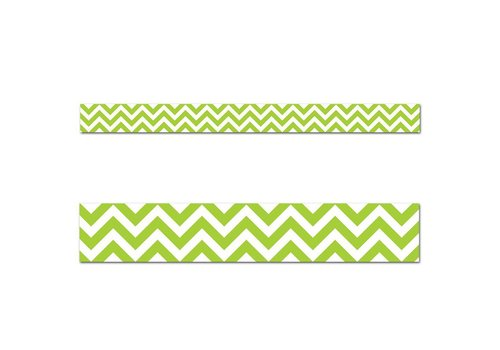 Creative Teaching Press Lime Green Chevron Border