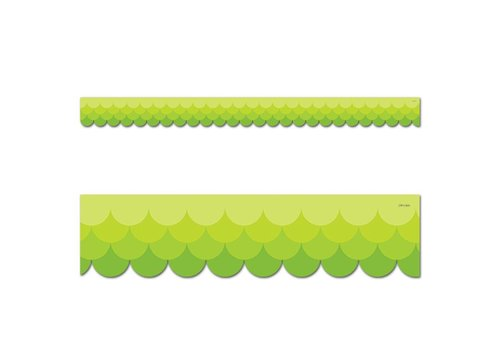 Creative Teaching Press Painted Palette Ombre Lime Green Scallops Border