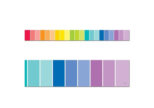 Creative Teaching Press Painted Palette Rainbow Paint Chip Border