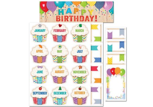Creative Teaching Press Upcycle Style Happy Birthday! Mini Bulletin Board