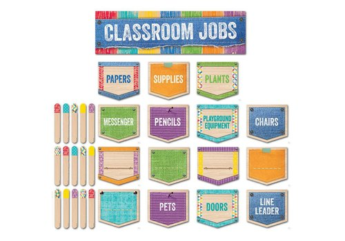 Creative Teaching Press Upcycle Style Classroom Jobs Mini Bulletin Board